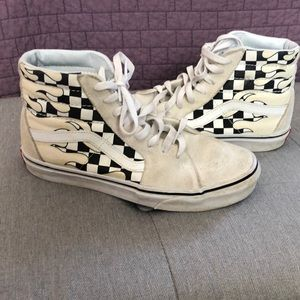 White Checkered Sk8 Hi